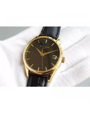 Replica Patek Philippe Calatrava 5227 Yellow Gold Black Dial Swiss 324SC