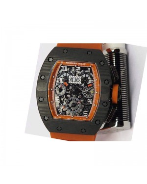 Replica Richard Mille RM011-FM Felipe Massa Chronograph Forged Carbon Orange Dial Swiss 7750