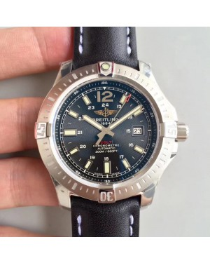 Replica Breitling Colt Automatic 44MM A1738811-BD44BKLT GF Stainless Steel Black Dial Swiss 2824-2