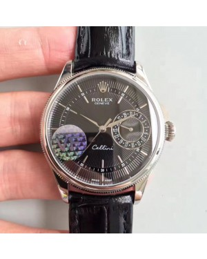 Replica Rolex Cellini Date 50519 VF Stainless Steel Black Dial Swiss 3165