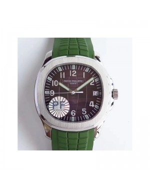 Replica Patek Philippe Aquanaut Jumbo 5167A-001 PF Stainless Steel Brown Dial Swiss 324SC