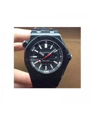 Replica Audemars Piguet Royal Oak Offshore Diver Ember Limited Edition Black Ceramic Black Dial Swiss 3120