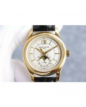 Replica Patek Philippe Annual Calendar 5205 Rose Gold White Dial Swiss 324
