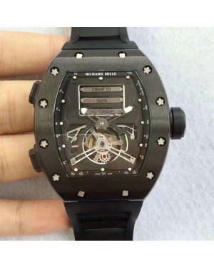 Replica Richard Mille RM69 Erotic Tourbillon KV Black Titanium Black Dial Swiss Caliber RM69