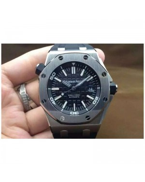 Replica Audemars Piguet Royal Oak Offshore Diver 15710 Stainless Steel Black Dial Swiss 3120