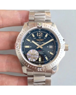 Replica Breitling Colt Automatic 44MM A1738811-BD44-173A GF Stainless Steel Black Dial Swiss 2824-2