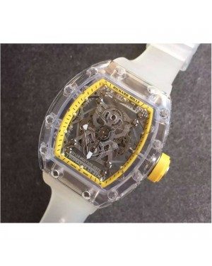 Replica Richard Mille RM056-02 Shappire Yellow & Skeleton Dial M9015
