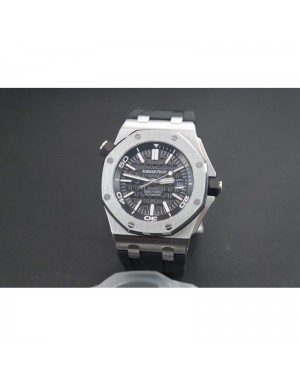 Replica Audemars Piguet Royal Oak Offshore Diver 15703 Stainless Steel Black Dial Swiss 2824