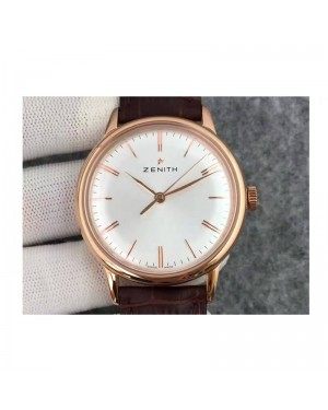 Replica Zenith Elite 6150 18.2270.6150/01.C498 Rose Gold White Dial Swiss Elite 6150