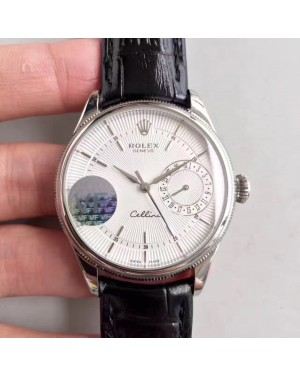 Replica Rolex Cellini Date 50519 VF Stainless Steel White Dial Swiss 3165