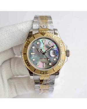 Replica Rolex Yacht-Master 40 116622 JF Stainless Steel & Yellow Gold Blue Mother Of Pearl Dial Swiss 3135