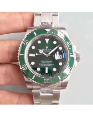 Replica Rolex Submariner Date 116610LV 2018 N V9S Stainless Steel 904L Green Dial Swiss 2836-2