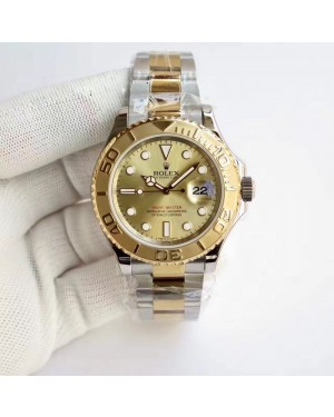 Replica Rolex Yacht-Master 40 116622 JF Stainless Steel & Yellow Gold Champagne Dial Swiss 2836-2