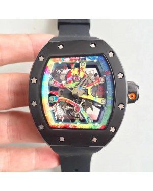Replica Richard Mille RM068-01 Tourbillon Kongo KV Ceramic Multicolored Skeleton Dial M8215