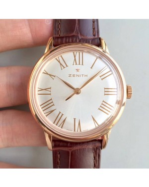 Replica Zenith Elite 6150 150TH Anniversary 18.2270.6150/01.C498 ND Rose Gold Silver Dial Swiss Elite 6150