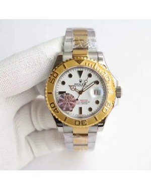 Replica Rolex Yacht-Master 40 116622 JF Stainless Steel & Yellow Gold White Dial Swiss 2836-2