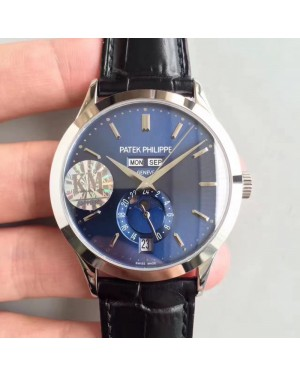 Replica Patek Philippe Annual Calendar 5396G KM Stainless Steel Blue Dial Swiss 324S