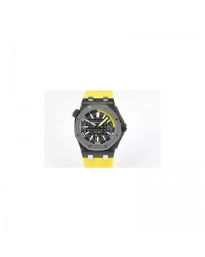 Replica Audemars Piguet Royal Oak Offshore Diver 15707 Forged Carbon Black Dial Swiss 3120
