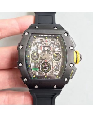 Replica Richard Mille RM011-03 KV V2 PVD Black Skeleton Dial Swiss 7750