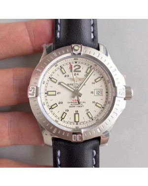 Replica Breitling Colt Automatic 44MM A1738811-G791-435X-A20BA.1 GF Stainless Steel White Dial Swiss 2824-2