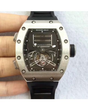 Replica Richard Mille RM69 Erotic Tourbillon KV Titanium Black Dial Swiss Caliber RM69