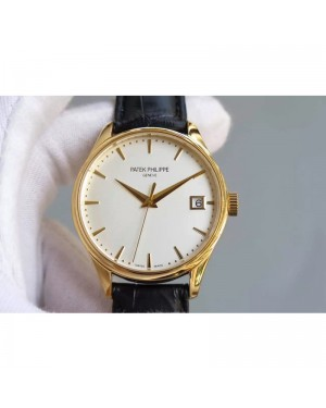 Replica Patek Philippe Calatrava 5227 Yellow Gold White Dial Swiss 324SC