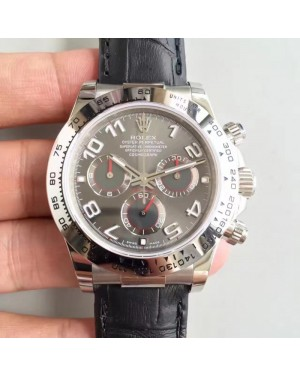 Replica Rolex Daytona Cosmograph 116509 JH Stainless Steel Anthracite Dial Swiss 4130 Run 6@SEC