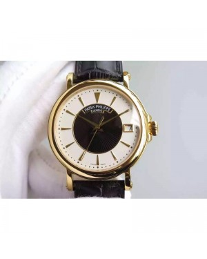 Replica Patek Philippe Calatrava 5153 Yellow Gold White & Black Dial Swiss 324SC
