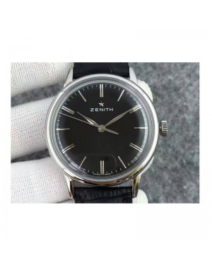 Replica Zenith Elite 6150 03.2270.6150/01.C493 Stainless Steel Black Dial Swiss Elite 6150