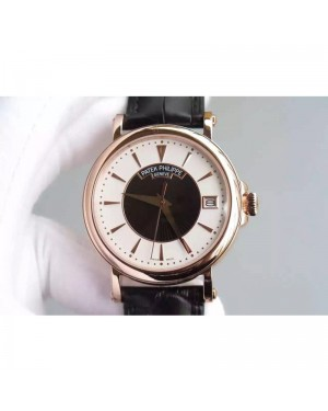 Replica Patek Philippe Calatrava 5153 Rose Gold White & Black Dial Swiss 324SC