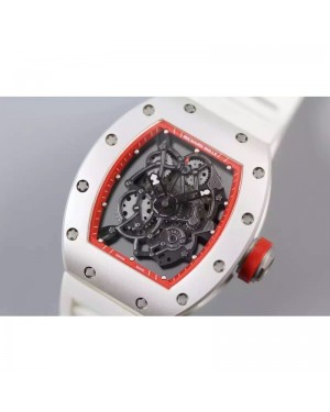 Replica Richard Mille RM035 White PVD Red Dial M9015