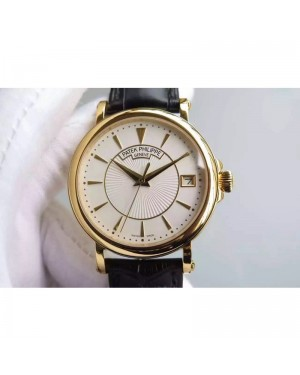 Replica Patek Philippe Calatrava 5153 Yellow Gold White Dial Swiss 324SC