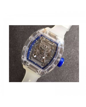 Replica Richard Mille RM056-02 Shappire Blue & Skeleton Dial M9015