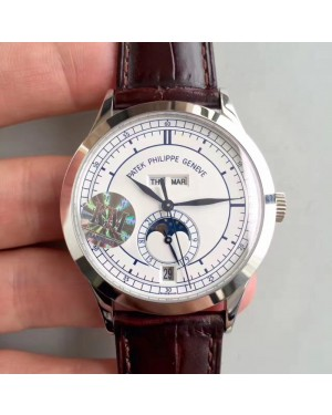 Replica Patek Philippe Annual Calendar 5396G KM Stainless Steel White Dial Swiss 324S