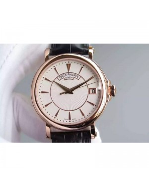 Replica Patek Philippe Calatrava 5153 Rose Gold White Dial Swiss 324SC