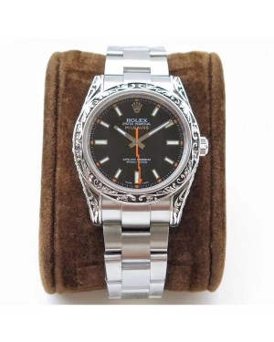 Replica Rolex Milgauss 116400GV GG Stainless Steel Black Dial Swiss 2836-2
