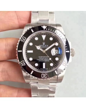 Replica Rolex Submariner Date 116610LN 2018 N V9S Stainless Steel 904L Black Dial Swiss 3135