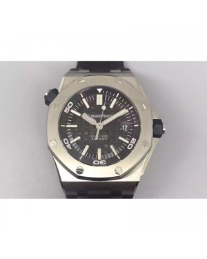 Replica Audemars Piguet Royal Oak Offshore Diver 15703 Stainless Steel Black Dial Swiss 3120